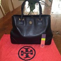 Tory Burch Black Leather Robinson Saffiano Tote Photo