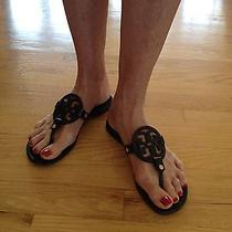 Tory Burch Black Leather Thing Flip Flop Photo