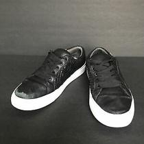 Tory Burch Black Marion Quilted Leather Lace-Up Sneaker Size  8 Photo