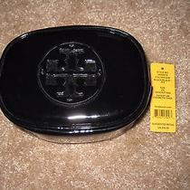 Tory Burch Black Patent Cosmetic Case Small Euc (Used Twice) Photo