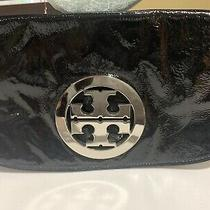 Tory Burch Black Patent Leather Amanda Reva Clutch Photo