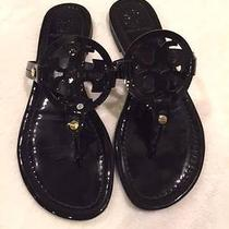 Tory Burch Black Patent Sandals Size 7.5 Photo