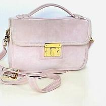 Tory Burch Blush Pink Suede Crossbody Clutch Shoulder Bag Two Way Photo
