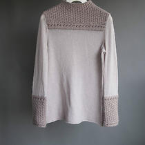 Tory Burch Blush Pink Wool Blend Mock Neck Sweater L Photo