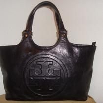 Tory Burch Bombe Black Leather Handbag 450 Photo