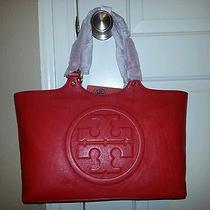 Tory Burch Bombe Burch Tote Handbag - Tory Red - 450 Photo