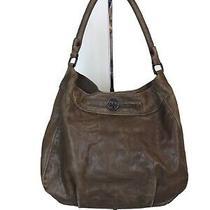 Tory Burch Brown Soft Distressed Leather Hobo Shoulder Bag Purse Large Handbag Photo