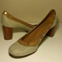 Tory Burch Brown Tan High Heel Pumps Women's Size 9.5 M Photo