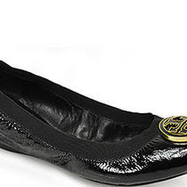 Tory Burch Caroline Ballet Flat Black Patent Leather Womens 225 Size Us 6.5  Photo