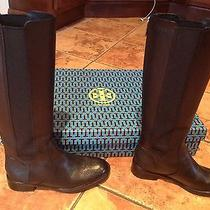 Tory Burch Christy Black Riding Boots 7.5 With Box Photo