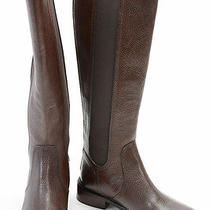 Tory Burch Christy Coconut 5.5 Leather Gore Knee Riding Boot Shoe New 495  Photo