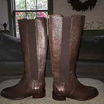 Tory Burch Christy Leather Riding Boot - Brown - Size 5 - New Photo