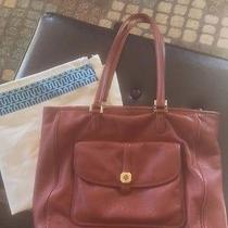 Tory Burch Clay Leather Tote Sienna Leather Photo