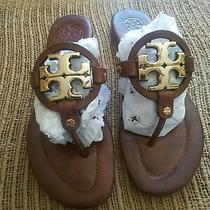 Tory Burch Dark Brown Leather Miller Sandals 7.5 Photo