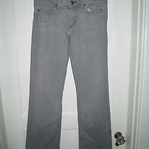 Tory Burch Designer Jeans by Habitual Gray Logo Pocket Size 26  Photo