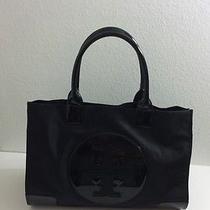 Tory Burch Ella Nylon Tote Handbag Black Large Photo