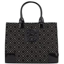Tory Burch ''ella'' Quilted Tote Bag Black/gold Photo