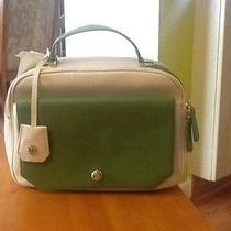 Tory Burch Ellen Camera Bag Ivory Leaf Green Photo