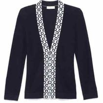 Tory Burch Embellished Camilla Cardigan. Navy. Nwt. Size M. 395 Photo