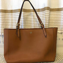Tory Burch Emerson Women's Large Tote - Camel Laptop Bag/everyday Wear - Mint Photo