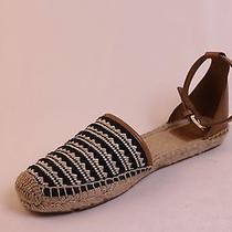 Tory Burch Espadrilles Flats Sandals Shoes Size 7 Womens Tan Black Photo