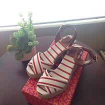 Tory Burch Espadrilles Karissa Mid Wedge Women's Shoes Size 7 Photo