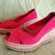 Tory Burch Filipa Wedge Espadrille - Red - Size 6b Canvas Slip on Open Toe Photo