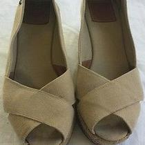 Tory Burch Filipa Wedge Sz 8 - Beige Photo