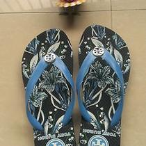 Tory Burch Flip Flops Reva Flats Sandal Thong Camilla Print Sz 9 - New 2013 Photo
