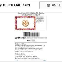 Tory Burch Gift Card 350 Gc Photo