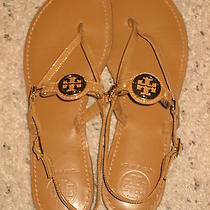 Tory Burch Gladiator Sandals Shoes Brown 8.5 Photo