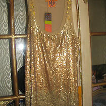 Tory Burch Gold Sequined Tank Size Medium/large Gold Sequins Photo