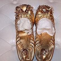 Tory Burch Gold Tassel Elastic Flats Shoes Size 7 Photo