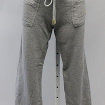 Tory Burch Gray Cotton Cropped Sweatpants Sz S Photo