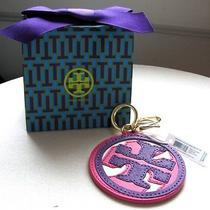 Tory Burch Handbag Charm Key Ring Fob Kerrington Applique 3 Piece Logo Nwt Photo