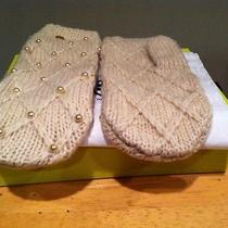 Tory Burch - Ivory Pearl Cable Mittens (Nwt) Photo