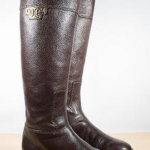 Tory Burch Joanna Dark Brown Riding Boots Size 8 Photo