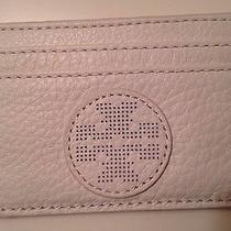 Tory Burch Kipp Slim Card Case White Nwt Retail 85  Tax With Gift Wrap Photo