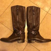 Tory Burch Leather Boots Size 8 1/2 Photo
