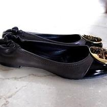 Tory Burch Leather Flats Shoes Sz 5 Photo