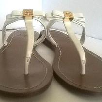 Tory Burch Leighanne Ivory White Flat Thong Sandal Sz 9 Photo