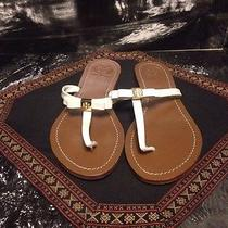 Tory Burch 'Leighanne' Thong Sandal Size 10 M White Photo