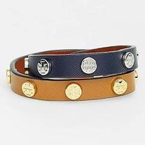 Tory Burch Logo Leather Wrap Bracelet Photo