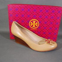 Tory Burch Lowell 65mm Wedge Heels Natural Blush Leather 11 Nib Photo