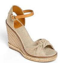 Tory Burch Macy Linen Espadrille Wedge Sandals Sz 11 Nib Photo
