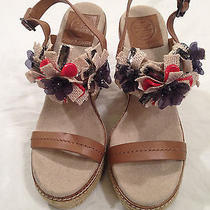 Tory Burch Mallory Wedges Sz 8 Shoes Womens  Photo