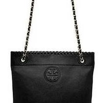 Tory Burch Marion Book Bag Bookbag Black Photo