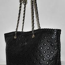 Tory Burch 'Marion' Quilted Small Tote Black - Pre-Owned  Photo