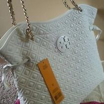 Tory Burch Marion Quilted White Purse Photo