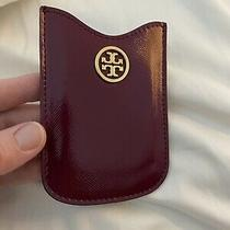 Tory Burch Maroon/plum/burgundy Patent Leather Blackberry Holder/card Case Photo